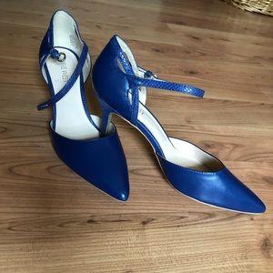 Nine West navy blue heels 3 inch heel